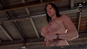 Pissing slut Julia Exclusiv gets spanked at lost place OTS116 screenshot
