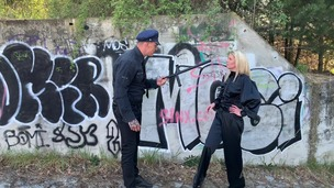 Claudia Mac assfucked & pissed on by cop at a crime scene OTS248 screenshot