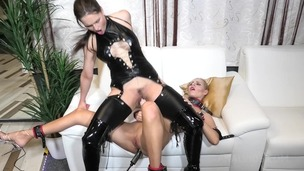 BDSM slave Florane Russell Anal Punished by Barbara Bieber OTS365 screenshot