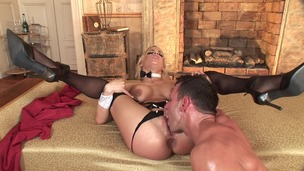 Blonde slut Britney ass to mouth sucks her butt juices off cock after anal GP1402 screenshot