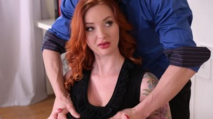 Threesome therapy with orgasmic anal action for busty redhead Zara DuRose GP1415 screenshot