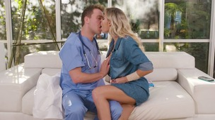 Blonde stunner Jessa Rhodes's anal sex fantasy with her doctor cums true GP1458 screenshot