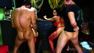 Foursome sex in the bar with Horny big ass babes OTS662 screenshot
