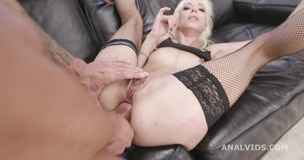 Basined, Sarah Slave 4on1 Balls Deep Anal, DAP, Gapes, Pee Drink, Creampie and Swallow GIO1559 screenshot
