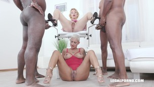 Lolly Glam enjoys african champagne and gets 2 cocks in the ass with anal fisting IV519 screenshot