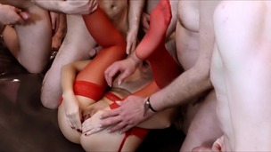 Gangbang with 15 men: Anal & DP HMS023 screenshot