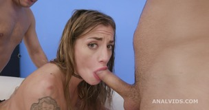 Silvia Dellai 4on1 Balls Deep Anal, DAP, Gapes, Pee Drink and Swallow GIO1637 screenshot