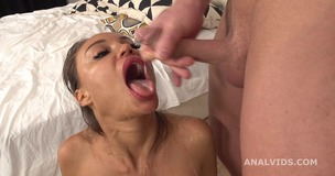 Monika Fox 4on1 DAP and Pee Drink, with Balls Deep Anal, ButtRose, Squirting and Swallow GL374 screenshot