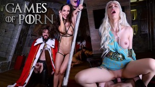 GameOfPorn #2: Daenerys licked and fucked in the ass. Nude slaves give blowjobs to the King of the North JMC023 screenshot